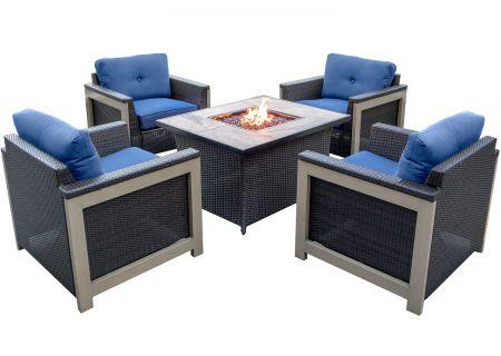 Hanover - MNT5PCFP-NVY-TN - Patio Seating Sets