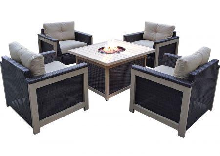 Hanover - MNT5PCFPST-TAN - Patio Seating Sets