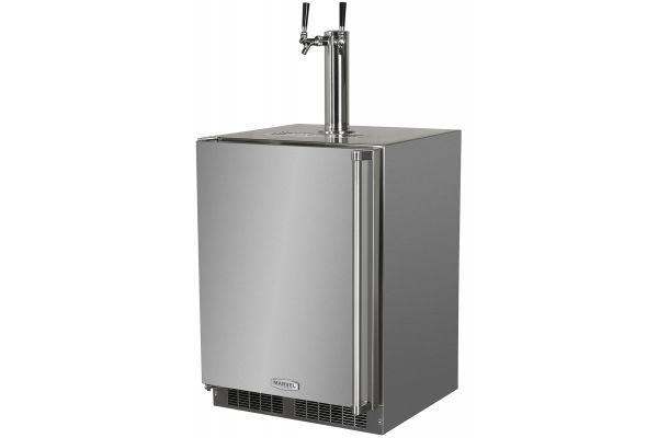 """Marvel 24"""" Stainless Steel Outdoor Built-In Beer Dispenser - MO24BTS2LS"""