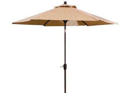 Hanover Brown Monaco 9 Tiltable Umbrella - MONACOUMB