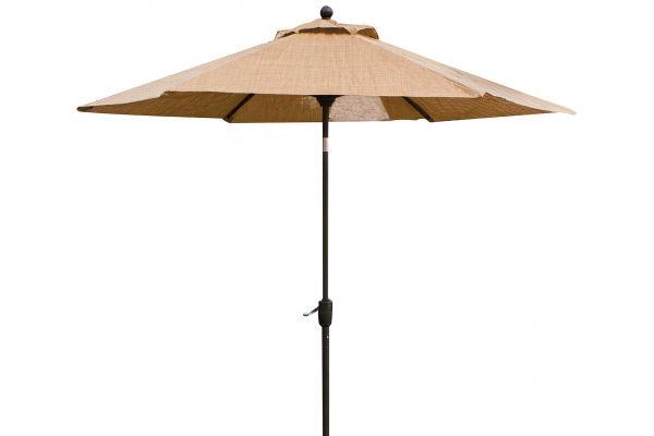 Large image of Hanover Brown Monaco 9 Tiltable Umbrella - MONACOUMB