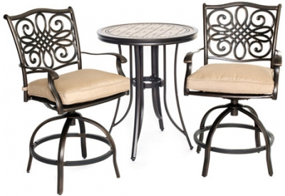 Hanover - MONDN3PCSW-BR - Patio Furniture
