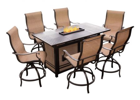 Hanover - MONDN7PCFP-BR - Patio Dining Sets