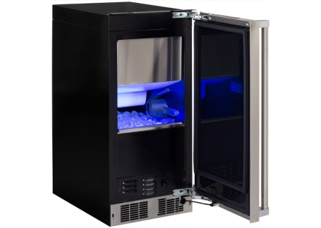 """Marvel 15"""" Professional Stainless Steel Clear Ice Machine - MP15CPS2RS"""