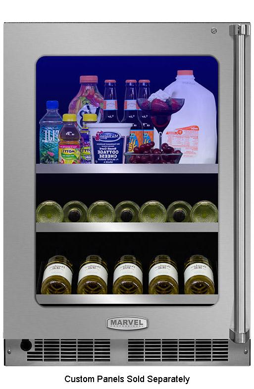 marvel 24 quot panel ready beverage center mp24bcf3lp