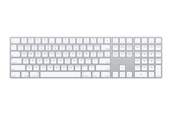 Large image of Apple Aluminum Magic Keyboard With Numeric Keypad - MQ052LL/A