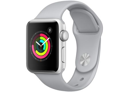 Apple Watch Series 3 38mm GPS Silver Aluminum Case With Fog Sport Band - MQKU2LL/A