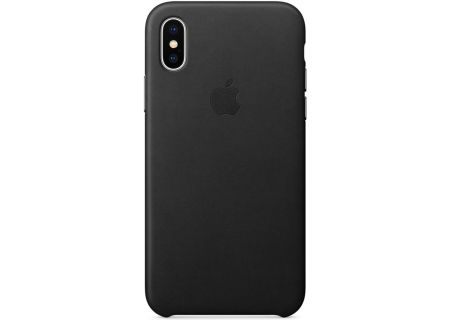Apple iPhone X Black Leather Case - MQTD2ZM/A