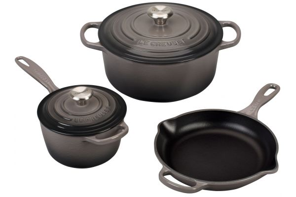 Le Creuset Oyster 5- Piece Signature Set - MS1605-7FSS
