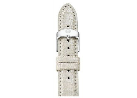 Michele 16mm Metallic Pearl Textured Leather Watch Band - MS16AA430114
