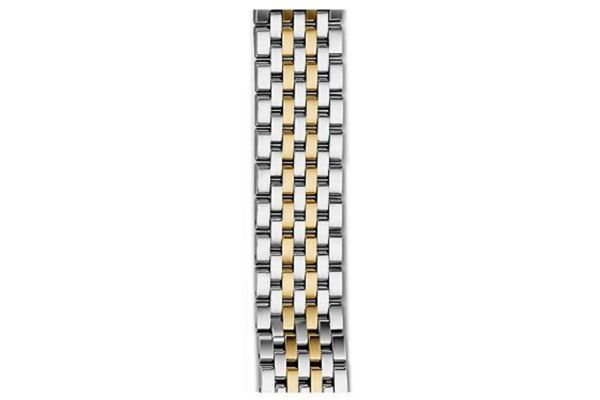 Large image of Michele 16mm Deco II 7-Link Mid-Size Two-Tone Bracelet - MS16FT285048