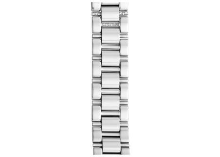 Michele 18mm Deco 3-Link Steel Bracelet With Diamonds - MS18CW235009