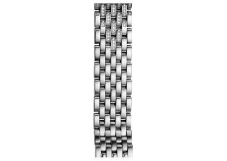 Michele 18mm Deco 7-Link Taper Steel Bracelet With Diamonds Watch Band - MS18EA235009