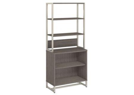 Bush Furniture Method Cocoa Bookcase With Hutch - MTH013CO