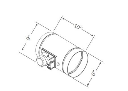 Zephyr - HOOD ACC MAKE UP AIR DAMPER - Range Hood Accessories