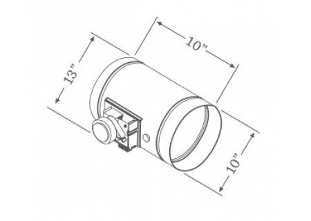 "Zephyr 10"" Universal Make-Up Air Damper  - MUA010A"