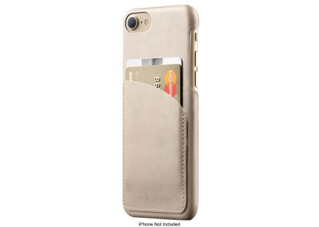 Mujjo Champagne Leather Wallet Case For iPhone 7 / 8 - MUJJO-CS-026-CH