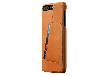 Mujjo Tan Leather Wallet Case for iPhone 7 Plus / 8 Plus - MUJJO-CS-071-TN