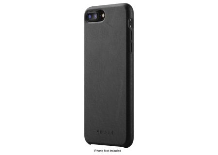 Mujjo Black Leather Full Case For iPhone 7 Plus / 8 Plus - MUJJO-CS-094-BK