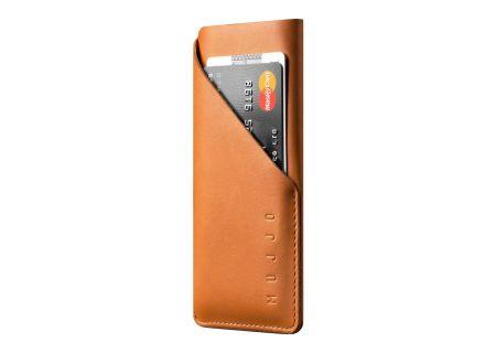 Mujjo Tan Leather Wallet Sleeve for iPhone 7 / 8 - MUJJO-SL-104-TN