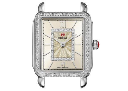 Michele Deco II Mid Stainless-Steel Champagne Diamond Dial Womens Watch Head - MW06I01A1114
