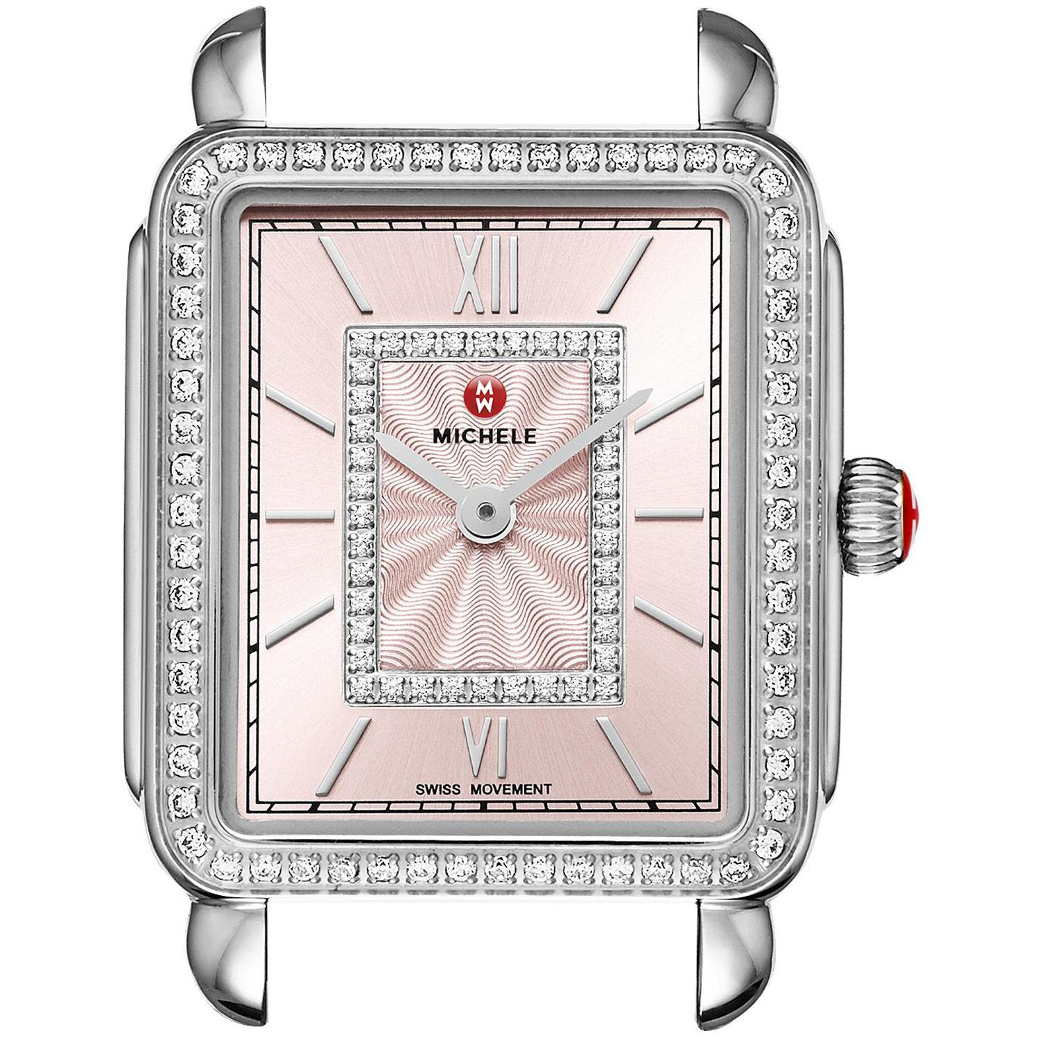 of diamond michele pearl dial deco ladies watches watch mother