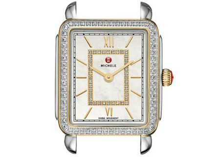 Michele Deco II Mid-Size Two-Tone Diamond Dial Womens Watch Head - MW06I01C5963