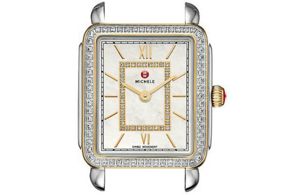 Michele Deco II Mid-Size Two-Tone Diamond Dial Womens Watch Head - MW06I01C5963