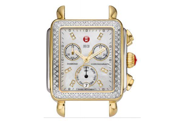 Michele Signature Deco Two-Tone Diamond Dial Womens Watch Head - MW06P01C5046