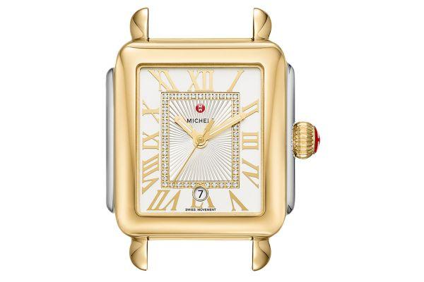 Michele Deco Madison Two-Tone Diamond Dial Womens Watch Head - MW06T00C9018