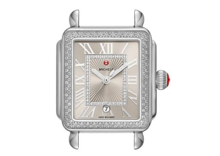 Michele Deco Madison Stainless Steel Cashmere Diamond Dial Womens Watch Head - MW06T01A1113