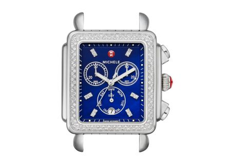Michele Deco Diamond XL Navy Diamond Dial Womens Watch Head - MW06Z01A1956