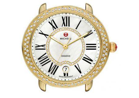 Michele Serein 16 Gold Diamond Dial Womens Watch Head - MW21B01B0963