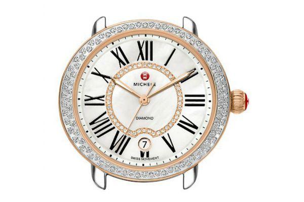 Large image of Michele Serein 16 Diamond Two-Tone Rose Gold Womens Watch Head - MW21B01D2963