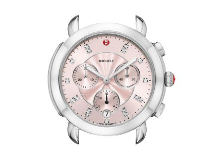 Michele Sidney Stainless-Steel And Blush Diamond Dial Womens Watch Head - MW30A00A0115
