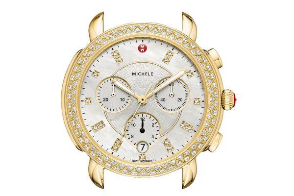 Michele Sidney Gold Diamond Dial Womens Watch Head - MW30A01B0046