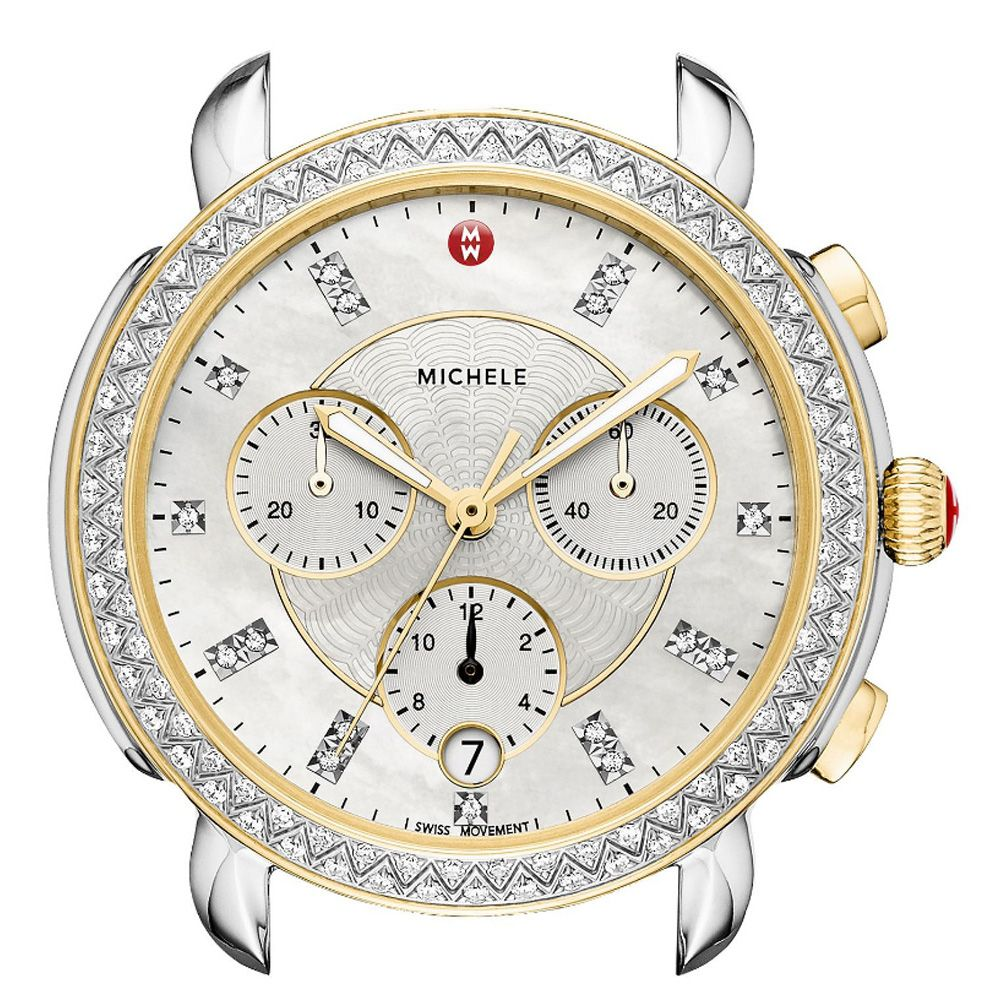 day deco diamond michele dial of watch watches pearl mother ladies