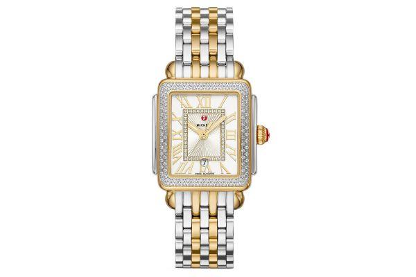 Large image of Michele Deco Madison Mid Two-Tone Diamond Womens Watch - MWW06G000002