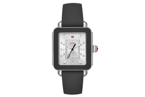 Large image of Michele Deco Sport Stainless-Steel And Black Silicone Womens Watch - MWW06K000002