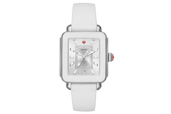 Michele Deco Sport Stainless-Steel And White Silicone Womens Watch - MWW06K000004