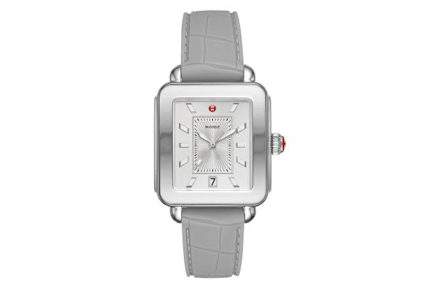 Large image of Michele Deco Sport Stainless-Steel And Light Grey Womens Watch - MWW06K000009