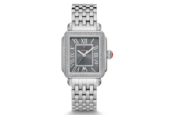 Michele Deco Madison Stainless-Steel Diamond Womens Watch - MWW06T000181
