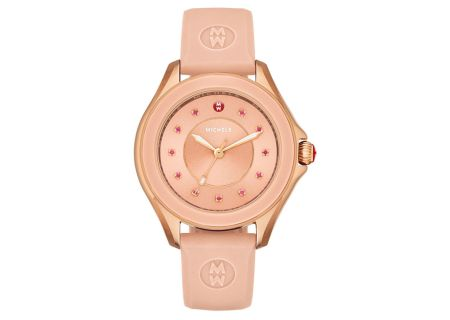 Michele Cape Rose Gold Tone Pink Topaz Dial Womens Watch - MWW27A000003