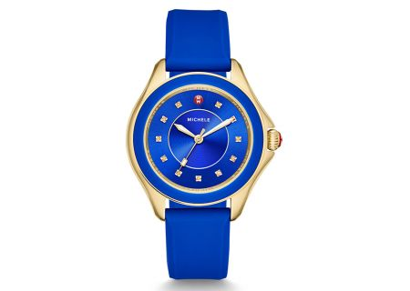 Michele Cape Topaz Cobalt Gold Womens Watch Head - MWW27A000026