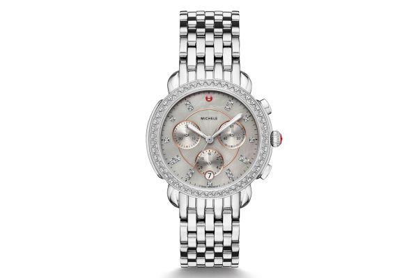 Michele Sidney Stainless-Steel Diamond Dial Womens Watch - MWW30A000028