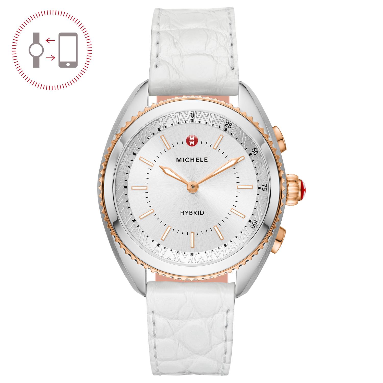 Michele Blush Silicone Hybrid Smartwatch Mwwt32a00007