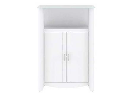 Bush Furniture White 2 Door Library Storage - MY16191-03
