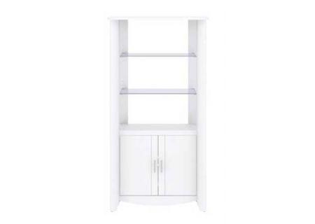 Bush Furniture White Tall Library Storage - MY16192-03