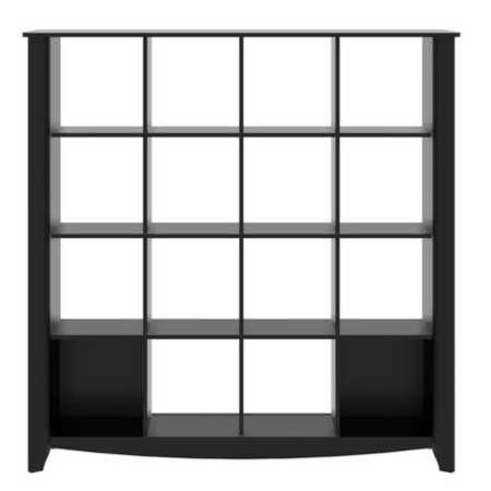 Bush Furniture Aero Black 16 Cube Bookcase My16903 03