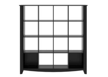 Bush Furniture Aero Collection Classic Black 16 Cube Bookcase - MY16903-03